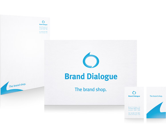 Brand Dialogue identity and stationery